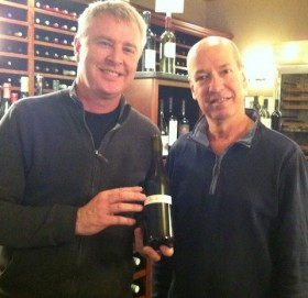 David O'Reilly, with Wyn Cooper, at Windham Wines