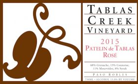 Patelin Rose, 2015, label