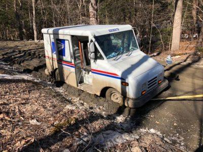 Postal Service Truck Mud Season